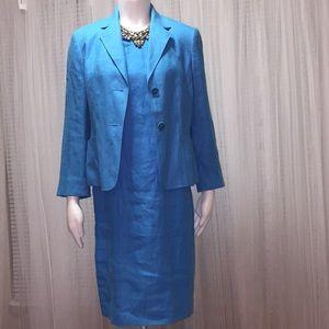 Talbots Linen Suit Dress Size 8/Blazer Size 6